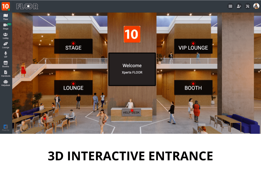 FLOOR 3D Interactive Entrance