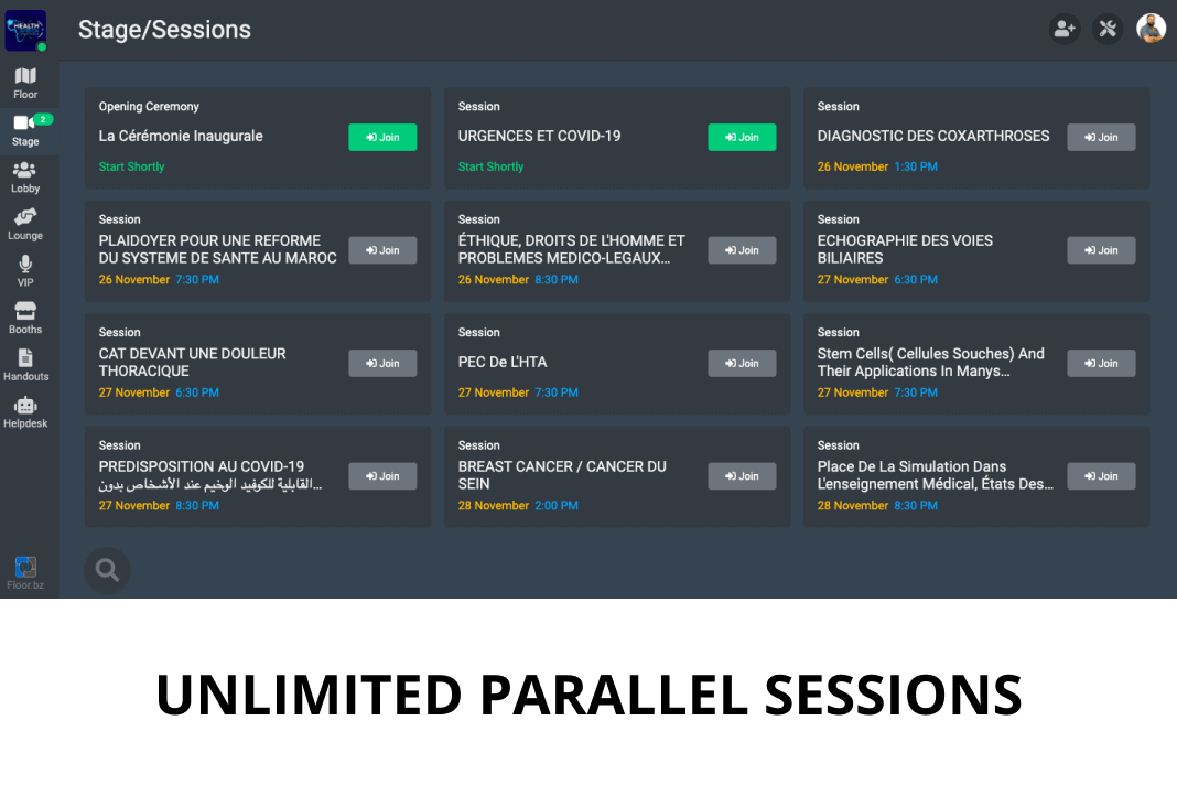 FLOOR unlimited parallel sessions